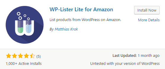 The WP-Lister for Amazon plugin.